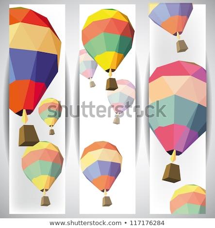 Luchtballon banner eps 10 liefde lucht Stockfoto © beholdereye