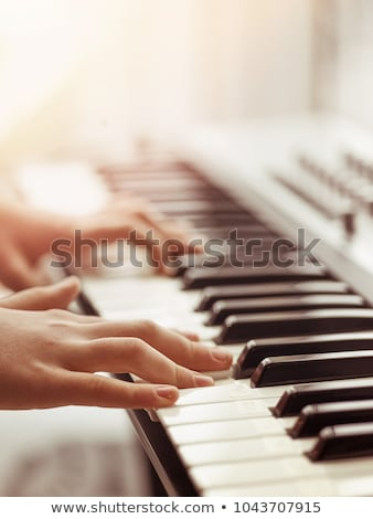 elektronische · piano · hoofdtelefoon · plug · abstract · model - stockfoto © kayros