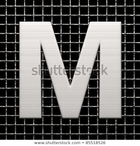 Metal lattice font letter M 3D Stock photo © djmilic