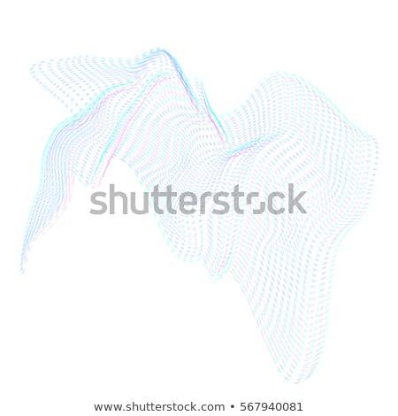 Stockfoto: Oppervlak · vorm · vector · berg · golven · zwarte