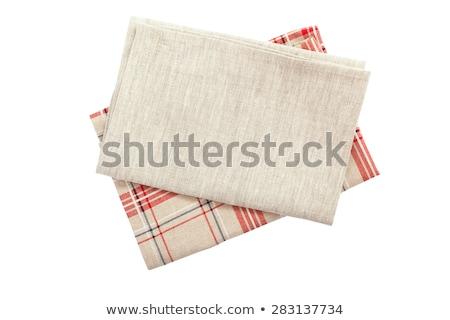 Kırmızı beyaz yemek havlu Stok fotoğraf © Digifoodstock