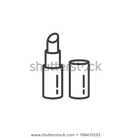Frauen Lippen gemalt Vektor Symbol Stock foto © robuart