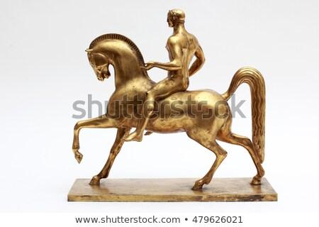 Lovas szobor ív katedrális ló kő Stock fotó © artjazz