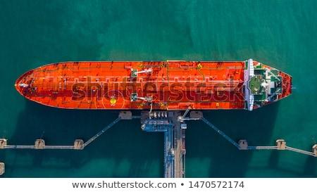Olajtanker légifelvétel óceán hajó üzemanyag part Stock fotó © iofoto