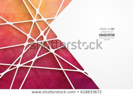 renkli · mavi · kırmızı · soyut · geometrik · düşük - stok fotoğraf © fresh_5265954