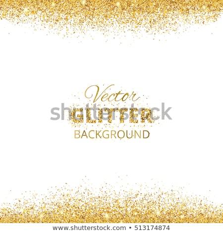 abstract golden glitter sparkles frame Stock photo © SArts