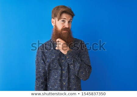 portrait of handsome redhead man with crossed arms isolated on black   Stock photo © LightFieldStudios