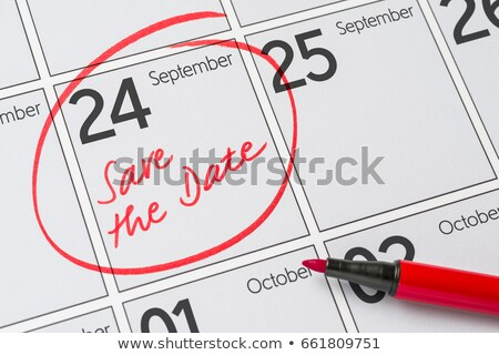 Stock photo: Save the Date written on a calendar - September 24