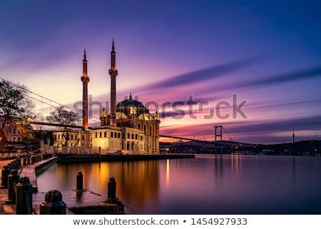 Стамбуле ночь Панорама Cityscape небе здании Сток-фото © Givaga