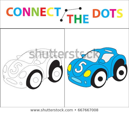 Stock photo: Children's educational game for motor skills. Connect the dots picture. For children of preschool ag