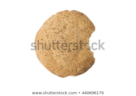 Cannelle sucre cookie mordre sur blanche Photo stock © icemanj