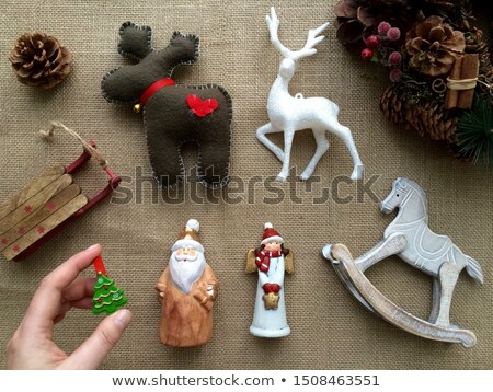 ceramic Christmas deer Stock photo © manera