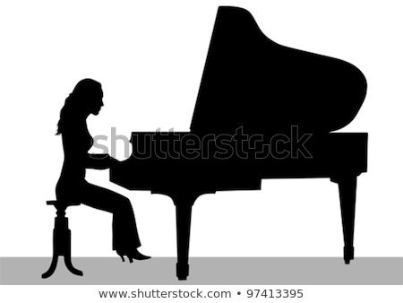 Női zenész játszik zongora éjszakai klub gyönyörű Stock fotó © wavebreak_media