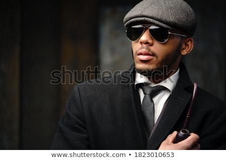 красивый афроамериканец человека позируют студию модный Сток-фото © NeonShot