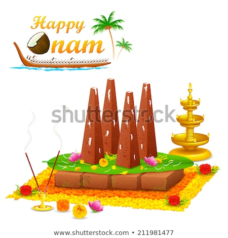 Decorated Onathappan for Happy Onam festival of South India Kerala Stock photo © vectomart