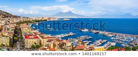 Nápoles · vulcão · Itália · porta · retro · paisagem - foto stock © benkrut
