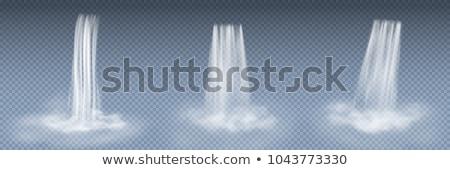 río · azul · agua · limpia · corriente · blanco · cielo - foto stock © maryvalery