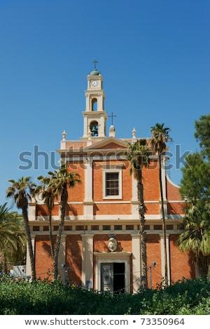 Kirche Israel Glocke Turm Uhr Stadt Stock foto © Zhukow