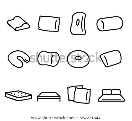 силуэта подушка набор икона линейный стиль Сток-фото © Olena