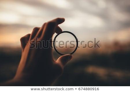 Zwarte digitale camera lens visie Stockfoto © tashatuvango