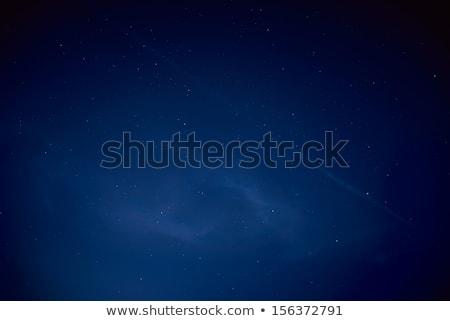 Night dark blue sky with many stars Stock photo © vapi