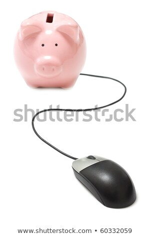 Piggy Bank and computer mouse cable Stock photo © devon