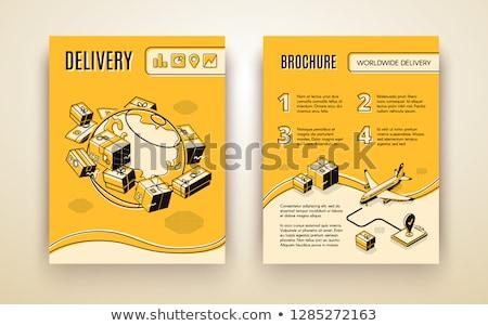 Világ levegő házhozszállítás szolgáltatás poszter kereskedelmi Stock fotó © studioworkstock