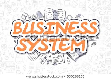 бизнеса интеграция болван оранжевый текста рисованной Сток-фото © tashatuvango