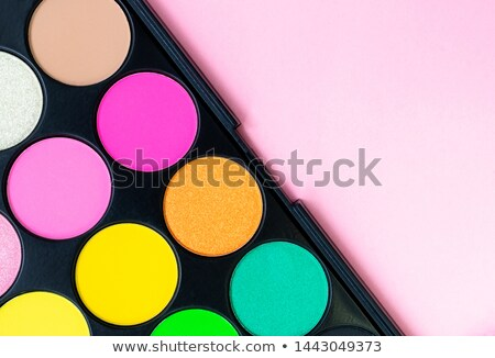 Verschillend schoonheid glamour Geel cosmetica make-up Stockfoto © IS2