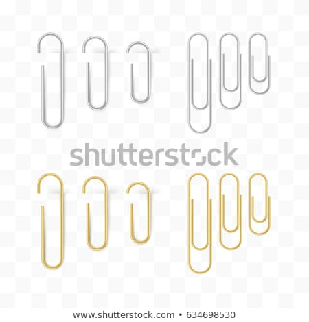 Golden paperclip Stock photo © IS2