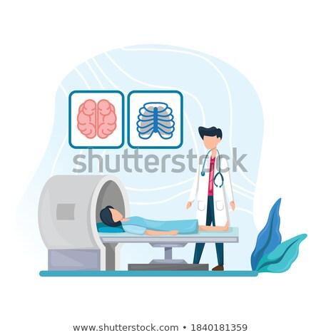 Nővér néz beteg ellenőrzés gép kórház Stock fotó © wavebreak_media