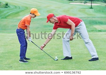 ゴルファー · 演奏 · 黒 · デジタル · 画像 - ストックフォト © is2