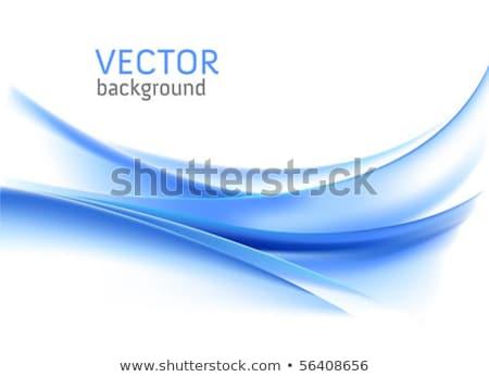 устрашающий синий волнистый визитной карточкой дизайна аннотация Сток-фото © SArts