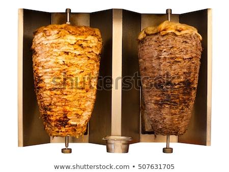 Kebab pop art retro giccs klasszikus rajz Stock fotó © studiostoks