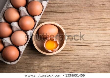 свежие · сырой · яйца · здоровое · питание · опасный · продовольствие - Сток-фото © klsbear