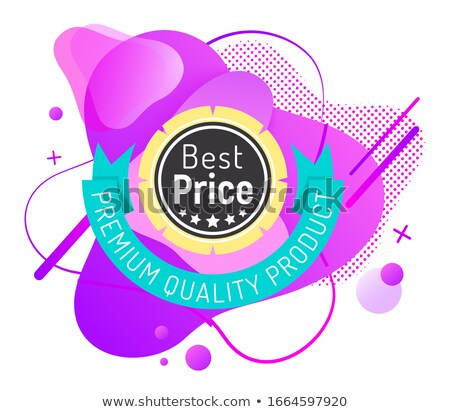 best price round label decorated by ribbon stars stock photo © robuart