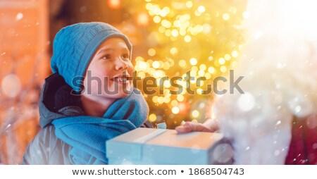 少年 ツリー クリスマス 市場 現在 見越し ストックフォト © Kzenon