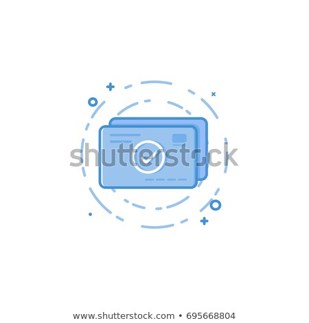 Online Payments and Web Income Round Linear Icons Stock photo © robuart