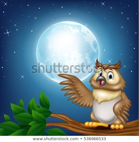 Cartoon Moon Waving Stock photo © cthoman