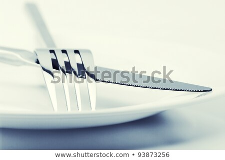 close up of a knife and fork  stock photo © inxti