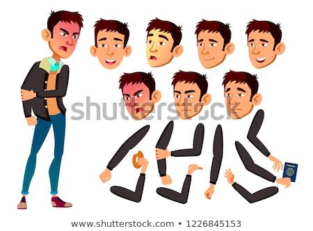 Tini fiú vektor ázsiai tinédzser aktív Stock fotó © pikepicture