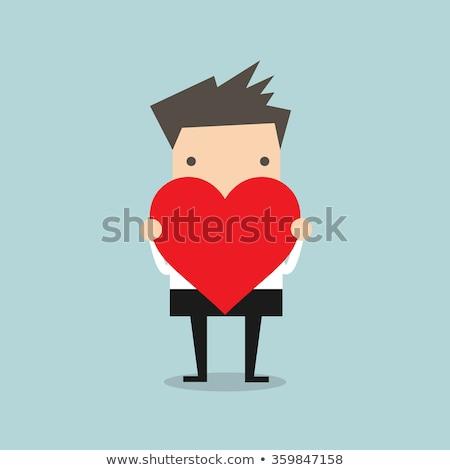 Empresário coração assinar inteligente terno Foto stock © ra2studio