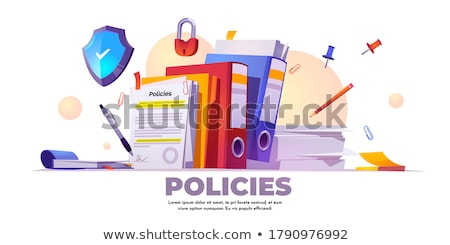 Risk managementconcept landing page. Stock photo © RAStudio