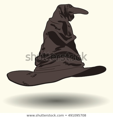 Rajz fekete macska boszorkány beszél illusztráció boldog Stock fotó © cthoman
