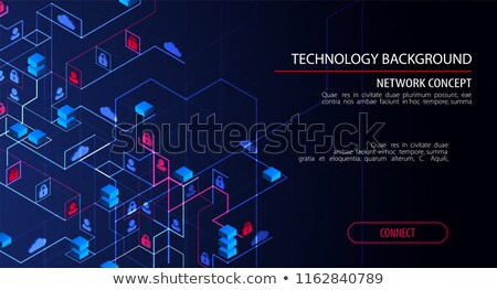 isometric cloud technology theme stock photo © genestro