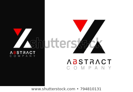 Piros z betű logotípus logo vektor terv Stock fotó © blaskorizov