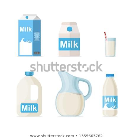 Set of milk bottle Stock photo © bluering