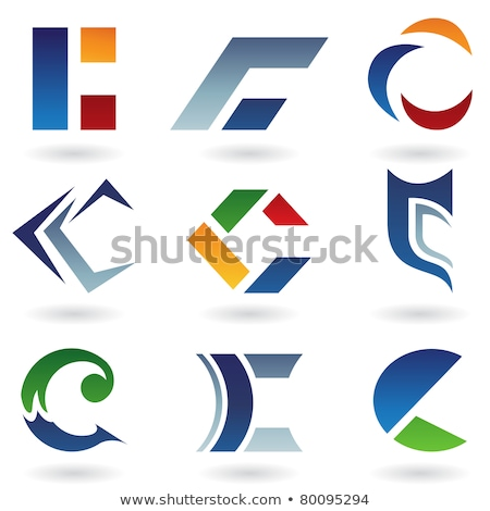 Orange and Red Arrow Shaped Letter C Vector Illustration Stock photo © cidepix