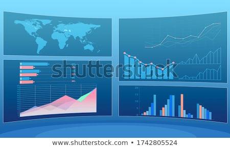 Stock foto: Business · Charts · Finanzierung · Mann · Welt · Geschäftsmann