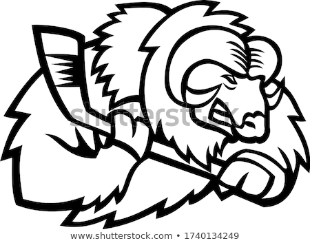 Musk Ox Ice Hockey Mascot Stock photo © patrimonio